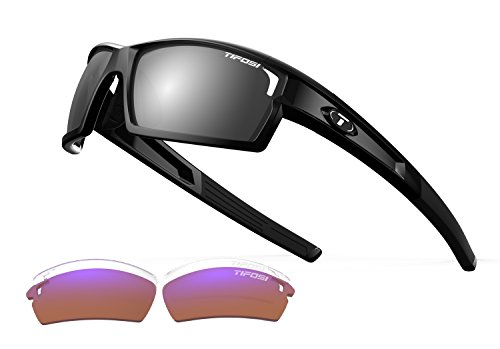 Tifosi Golf Camrock Wrap Sunglasses, Gloss Black, 143 mm