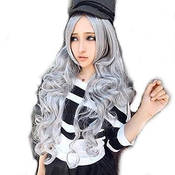 OOFAY JF® harajuku peluca plateada peluca cosplay del anime en europa y américa venta comercio