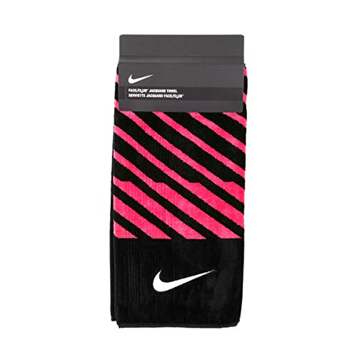 Nike Closeout Face/Club Jacquard Towel - Black/Pink