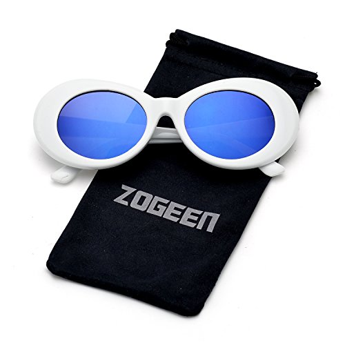 ZOGEEN Bold Retro Oval Lens Mod Style Thick Frame Sunglasses Clout Goggles 1212 (Deep - Face For Sunglass Best Oval Shape