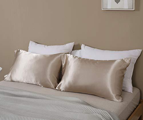 Omelas 2 Pack King Silk Satin Pillowcases For Hair King