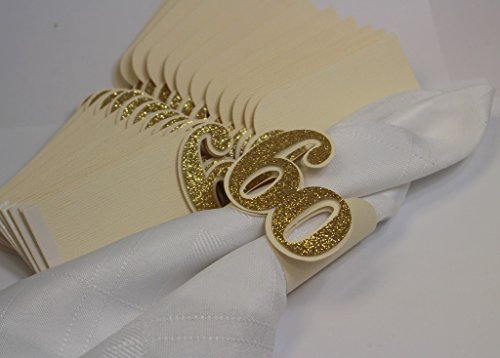All About Details Gold 60 Napkin Holders, 12pcs