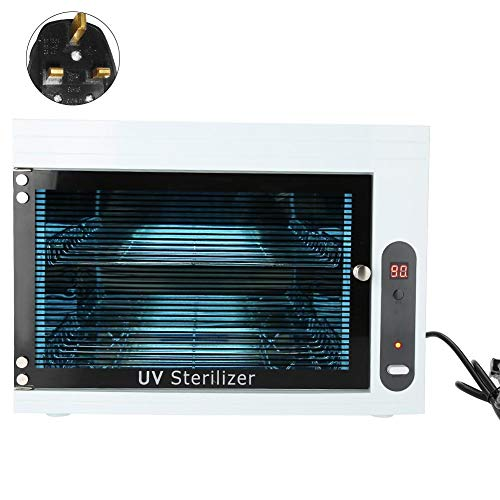 UV Disinfection Cabinet, Manicure Tools Sterilizer Nail Art Tools Disinfect Machine Cleaner Pot for Pedicure Salon Tattoo Nipper
