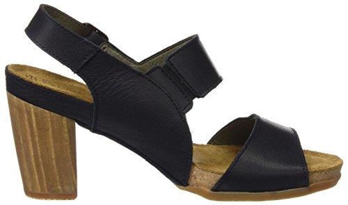 El Naturalista N5020 Ibon Kuna, Zapatos de Tacón con Punta Abierta para Mujer Negro (Black)