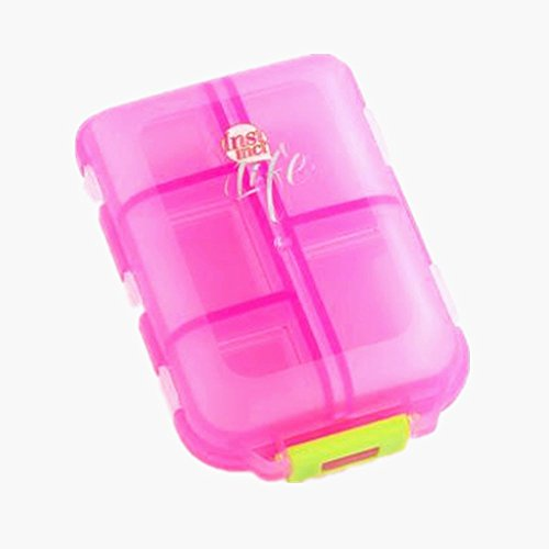 Three Legs Pill Case, Pill Case - Portable Travel Pill Organizer Box for Vitamin Pills Or Trinkets,10 Compartments ()