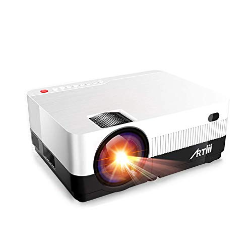 Portable Projector - Artlii 3200 Lumen HD Projector with Zoom,1080P Support Outdoor Movie Projector with 180