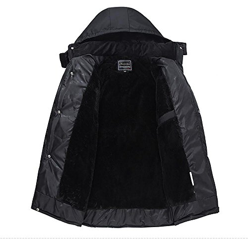 Men Zippered Casual Padded Black Cotton Outerwear Winter Jacket Thicken 4XL XL Warm Hooded S0qrR6S