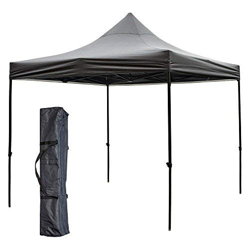 Snail 10' X 10' Portable Event Party Shade Shelter, Outdoor Easy Pop Up Waterproof Canopy with 420D Top, Weighs 62 lb, Black