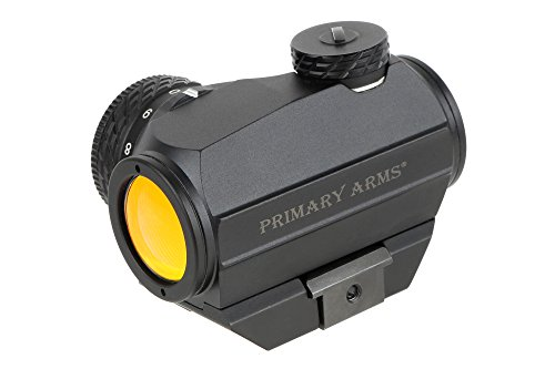 Primary Arms Advanced Micro Dot 2 MOA Red Dot Sight Removable Base, Rotary Knob 50k-Hour Battery Life, Black - MD-RB-AD
