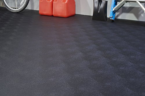 G-Floor BLT Levant Garage Floor Mat 55 Mil Garage Floor Covering (7.5'x17', Black) (Garage Floor Covering Ribbed)