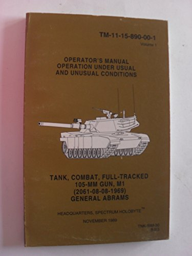 Operator's Manual Operation Under Usual and Unusual Conditions (paperback)