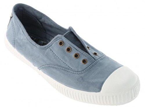 Victoria Kvinna Canvas Inglesa Elastico Mode Sneakers Made In Spain Azul