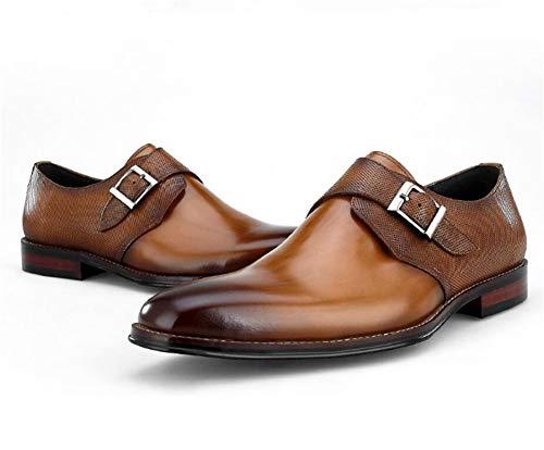 Affari Di Scarpe Uomo Commerciali Per Scarpe Pelle Libero Uomo Tempo Brown Marrone Mocassini Eleganti HN Pelle Shoes qURFqx8O