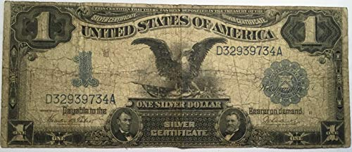 One dollar 1899 series black eagle silver certificate (1899 Silver Certificate Black Eagle 1 Dollar Bill)