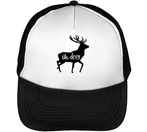 Blanco Oh Gorras Negro Beisbol Hombre Deer Snapback wffFxYgq