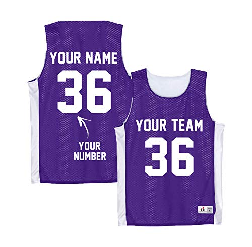 Custom Purple Basketball Tank Tops Toddler - Boys Pinneys Youth Jersey - YMCA Apparel