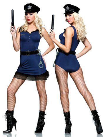 Officer Pat Down Costume (Officer Ivana Pat Down Sexy Police Costume - MEDIUM)