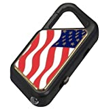 Asp Law Enforcement Every Day Carry Poly Sapphire USB Flashlight, American Flag