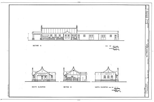 Historic Pictoric Blueprint Diagram HABS ARK,72-FAYV,4- (Sheet 4 of 5) - Old Frisco Depot, 550 West Dickson, Fayetteville, Washington County, AR 12in x 08in -