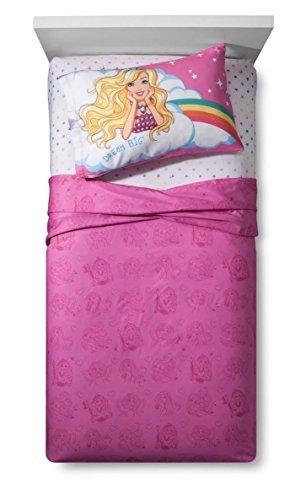 (Mattel Barbie Unicorn Dreamtopia Twin Sheet Set Super Soft )
