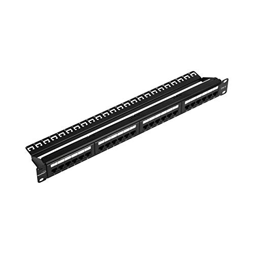 or Wallmount 24-Port Cat6 Patch Panel RJ45 Ethernet 568A/B Compatible ()