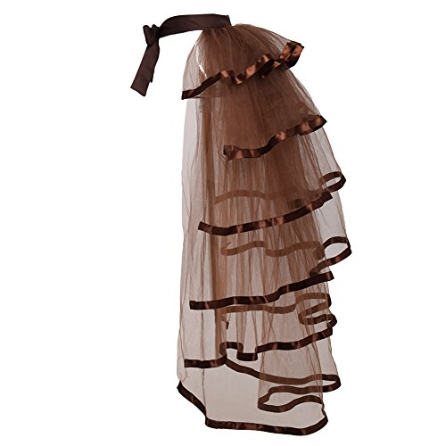 GRACEART Victorian Steampunk Tie-on Bustle Costume Tutu Belt