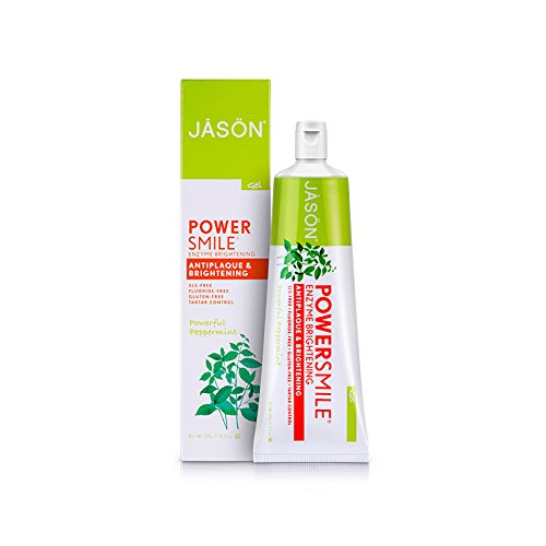 Enzyme Brightening (Jason Powersmile Enzyme Brightening Gel Toothpaste Fluoride-free, 4.2 Ounce)