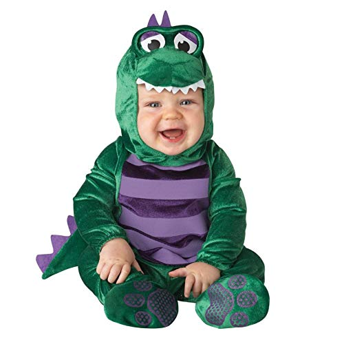 InCharacter Costumes Baby's Dinky Dino Dinosaur Costume, Green/Purple, 12-18 Months ()