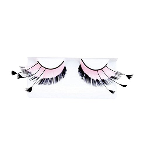 Lady Beauty Ornament Makeup (Msmask Dense Exaggerated Personalized Feather False Eyelashes Makeup For Lady Ornament Daily)