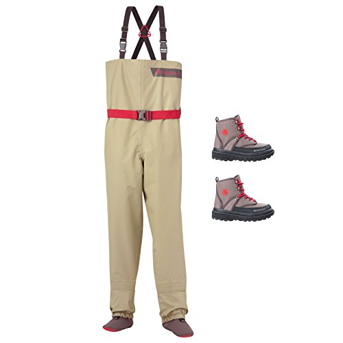 Redington Crosswater Youth Fly Fishing Waders & Wading Boots Kid's Bundle (Boot Redington)