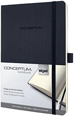 SIGEL CO309 Notizbuch Medium, dotted, Softcover schwarz, Conceptum - weitere Modelle