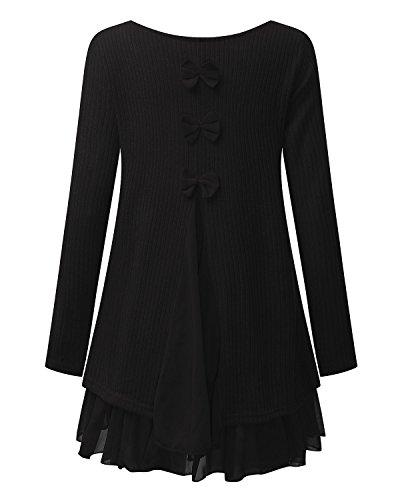 Lâce Sweats Manche Haut Sweater Femme Pull robe Noir Mini Zanzea Cardigan Tricot Longue 8n0PZwkXNO