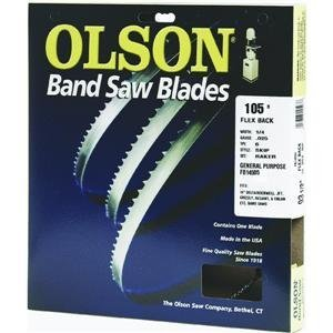 Olson Saw FB14505DB 1/4 by 0.025 by 105-Inch HEFB Band 6 TPI Skip Saw Blade