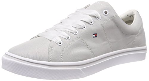 Diamond Light Metallic 001 Zapatillas Up Tommy Mujer Lace para Grey Gris Weight Hilfiger AwnB1