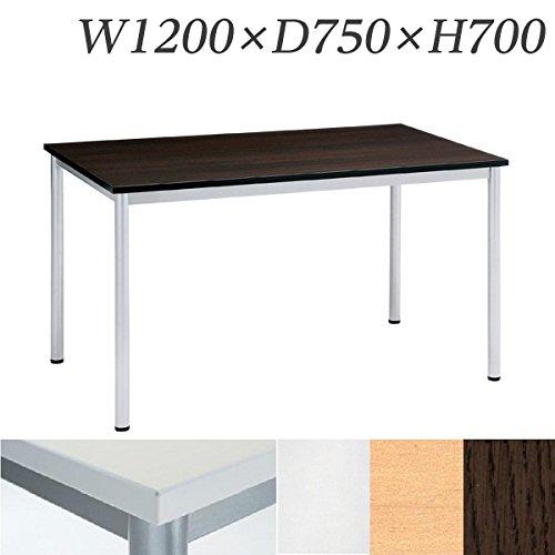 生興 テーブル MD型会議用テーブル W1200×D750×H700 4本脚タイプ MD-1275 ホワイト B015XOKNT0 ホワイト ホワイト
