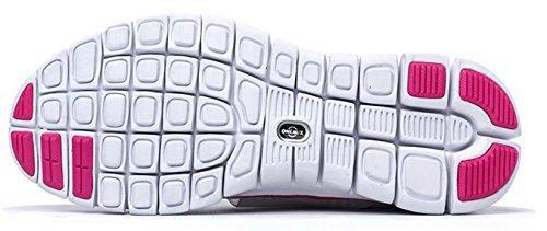 Onemix Women's pink white on Slip Shoes w6q1qHUfgx