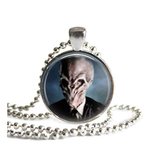 - Doctor Who Silent 1 Inch Silver Plated Pendant Necklace or Keychain
