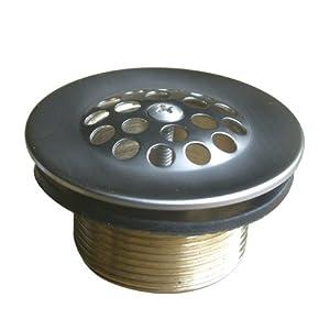 Kingston Brass DTL208 Bath Tub Drain Strainer and Grid, Satin Nickel