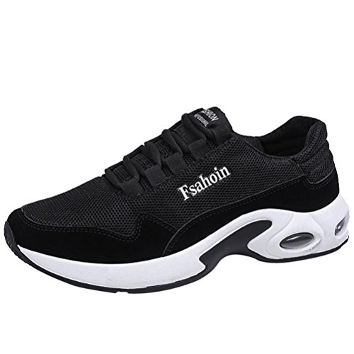 Hot Sale Mens Running Shoes Casual Lace up Ventilation Shock Absorption Athletic Sneakers (Black, US:8) by Aurorax-Sneakers
