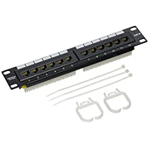 TRENDnet 12-Port Cat6 Unshielded Patch Panel, 10 Inch Wide, 12 x Gigabit RJ-45 Ethernet Ports, TC-P12C6