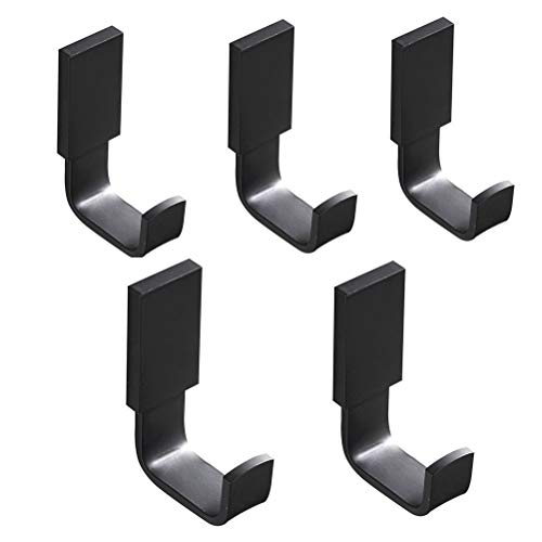 Aothpher 5 Pack Bathroom Towel Coat Hooks Robe Hook Entryway Kitchen Home Office Wall Mounted Copper,Matte Black