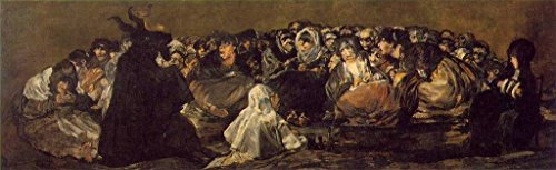 Goya Francisco The Great He Goat or Witches Sabbath 100% Hand Painted Oil Paintings Reproductions 12X16 Inch