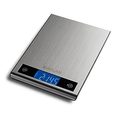 Baflan 11lb/5kg Digital Multifunction Kitchen Food Scale, Stainless Steel
