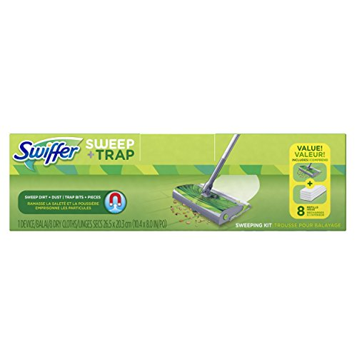 swiffer-sweep-and-trap-floor-cleaner-starter-kit-sweeper-with-8-cloth-refills