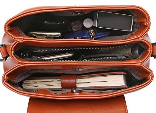 Cuir Messager Automne Wdbao Coréenne Femme Sacoche Main En Sac Bag Hiver Brown Version À Bandoulière IqIPv