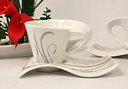 12tlg. Kaffeeservice Kaffee Service Tassen Untertasse als Kuchenteller (L014)