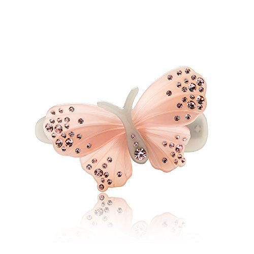 DOWELL French luxury classic butterfly flower long bar hair clip hair accessories hair Barrettes (009 Clips)