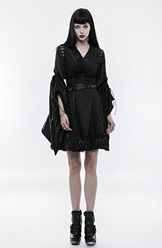 Haute Visual Ceinture Avec Taille Noire Jupe Zip Noir Japon Froufrous Et Punk Rock Rave Kei Sqwa7xI