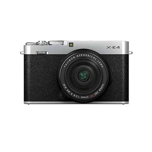 RetinaPix Fujifilm X-E4 Mirrorless Camera Body with XF27mmF2.8 R WR Prime Lens- Silver (Compact Body, X-Trans CMOS 4 Sensor, Fast AF, Face/Eye AF, 180° Tilting LCD Screen, EVF, 4K Video, Film Simulation Modes)