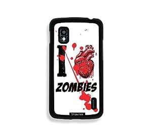 Shawnex I Heart Love Zombies Thinshell Case Protective Nexus 4 Case